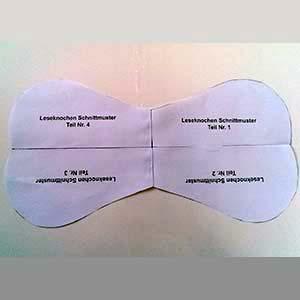Leseknochen Schnittvorlage zusammenkleben Teil 4